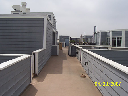 Fiberglass deck coating